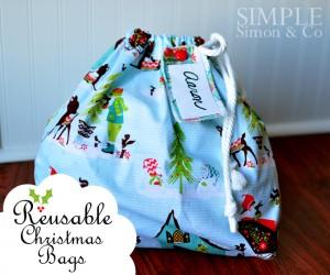 reuseable christmas gift bag