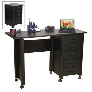 Venture Horizon Mobile Desk and Craft Centre in black
