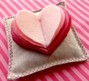 Valentine sachet