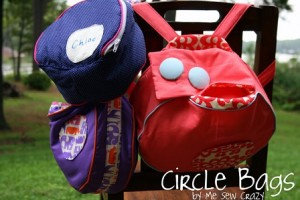 circle lunch bag